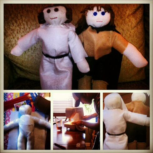 The Creation of Andrew's Leia and Anakin Sock Dolls