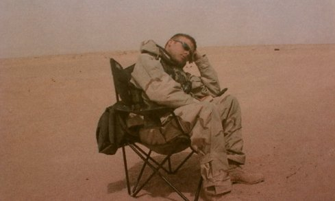 Sleepy Soldier Taking a Break